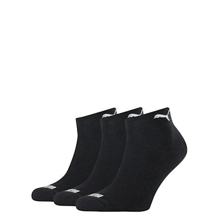 Basic Quarter Cushioned Socks, black, small-SEA