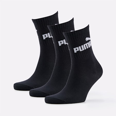 Basic Trainers Sports Socks 3 Pack, black, small-SEA