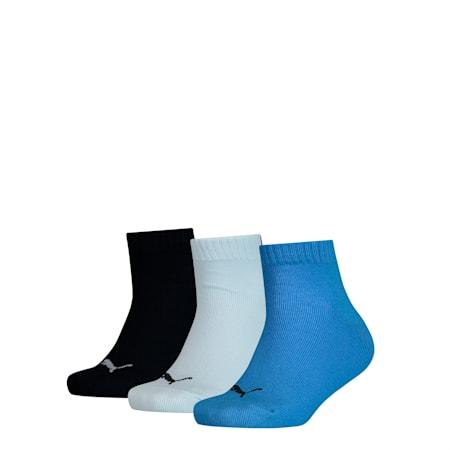 Kids' Quarter Socks 3 pack, Marina, small-GBR
