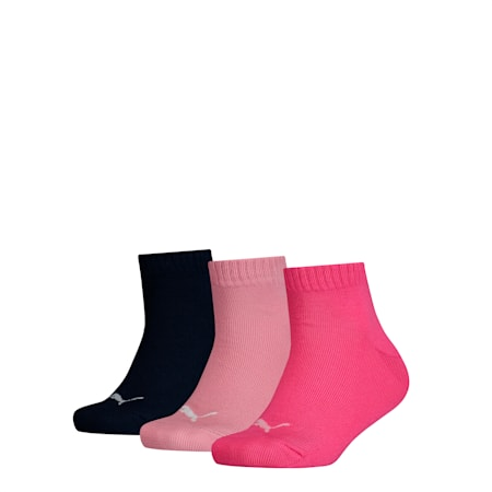 Kinder Quarter Socken 3er Pack, pink / blue, small