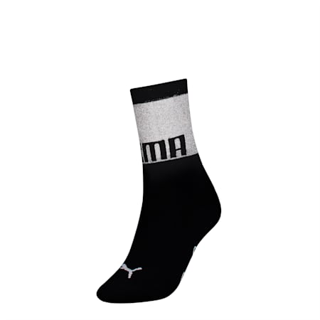 PUMA x SG Transparent Top Crew Socks (1 Pair), black, small