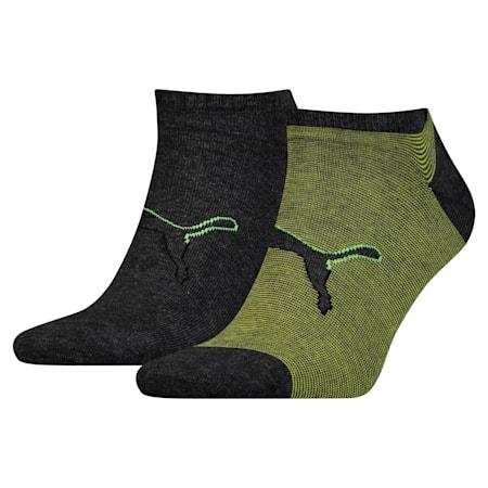 Big Cat Trainer Socks 2 Pack, black / yellow, small