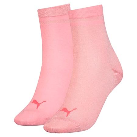 Lot de deux paires de socquettes courtes Radiant pour femme, rose water, small