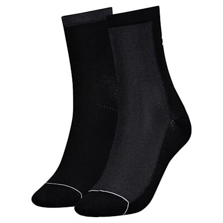 Confezione da 2 paia di calze Radiant donna, black, small