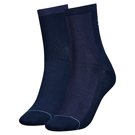 Radiant Women's Socks 2 Pack, peacoat, small