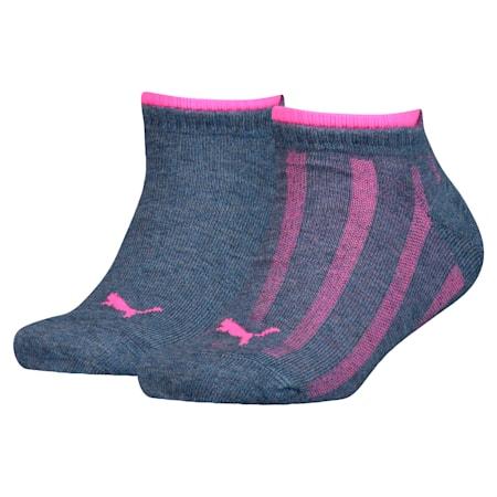 Girls' Trainers Socks 2 Pack, girls denim, small