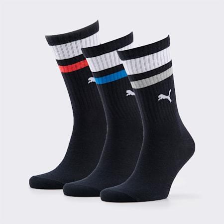 PUMA Unisex Socks 3P, black, small-SEA