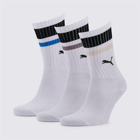 PUMA Unisex Socks 3P, white, small-SEA