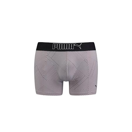 Shorts boxeurs PUMA Geostripes Lifestyle pour homme, grey / green, small