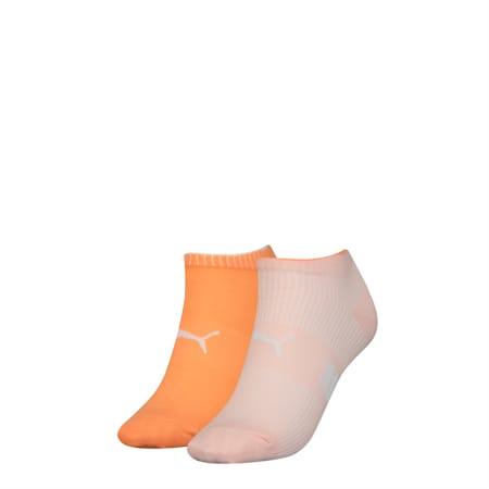 Lot de deux paires de socquettes pour basket PUMA Structure pour femme, pink combo, small