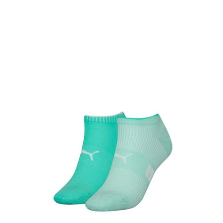 Lot de deux paires de socquettes pour basket PUMA Structure pour femme, mint combo, small