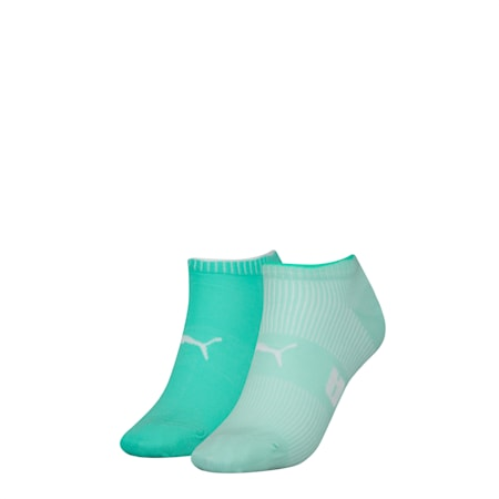 PUMA Structure Women's Trainer Socks (2 pack), mint combo, small