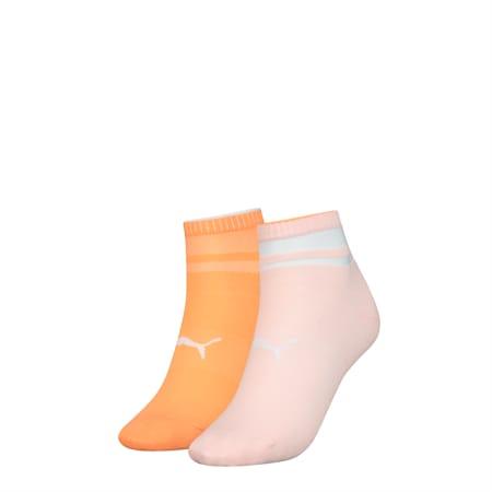 Lot de deux paires de socquettes courtes PUMA Structure pour femme, pink combo, small