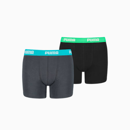Basic Boy's Boxers 2 pack, india ink / turquoise, small-GBR