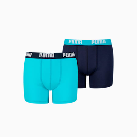 Basic Boy's Boxers 2 pack, bright blue, small-GBR
