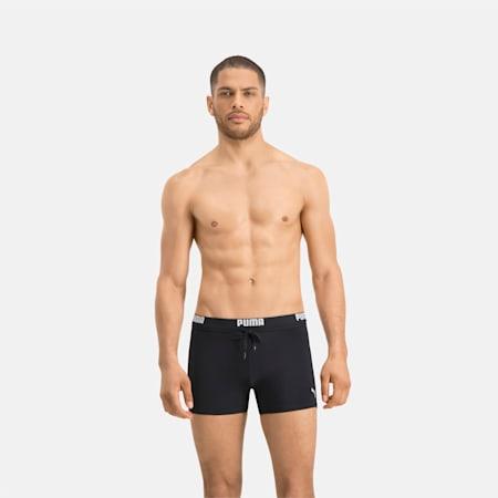 PUMA Swim Logo Men's Swimming Trunks, black, small