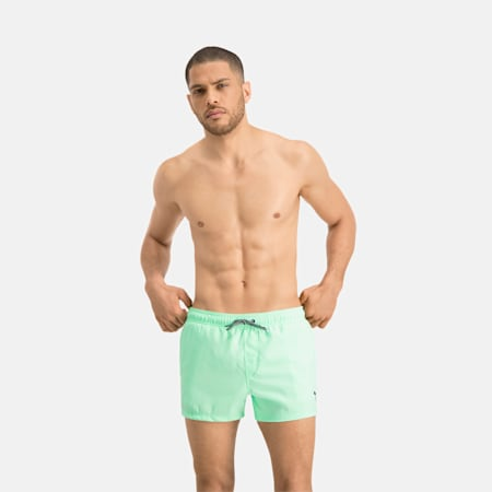 Men's Short Length Swimming Shorts, mint, small