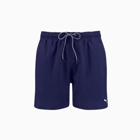 Shorts da bagno di media lunghezza da uomo PUMA Swim - Cordino visibile, navy, small