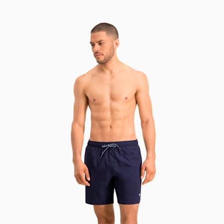 Męskie szorty pływackie o średniej długości PUMA — z widocznym ściągaczem, navy, small