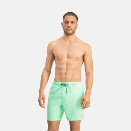 PUMA Swim Mid-Length Men's Swimming Shorts - Visible Drawcord, mint, small