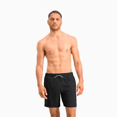 PUMA Swim Herren Mittellange Badeshorts mit sichtbarem Kordelzug, black, small