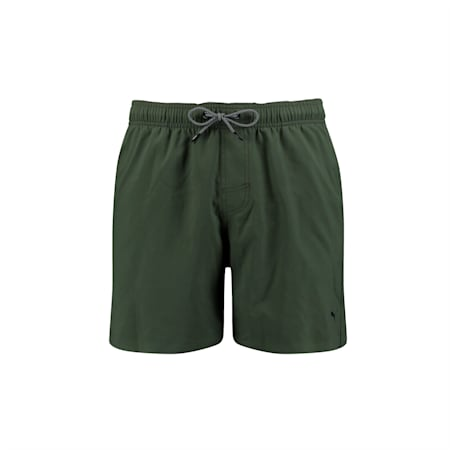 Short de bain semi-long PUMA Swim avec cordon visible pour homme, thyme, small