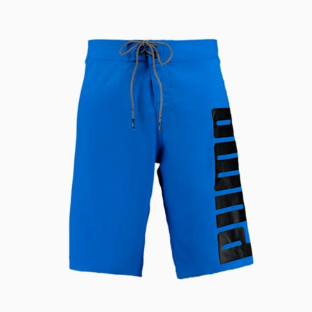 PUMA Swim Men's Long Boardshorts, blue, small