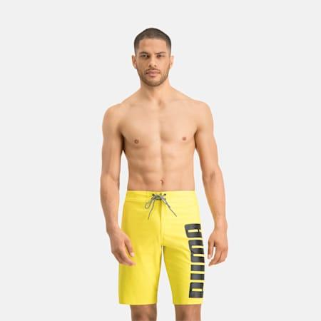 Długie męskie szorty surfingowe PUMA Swim, yellow, small