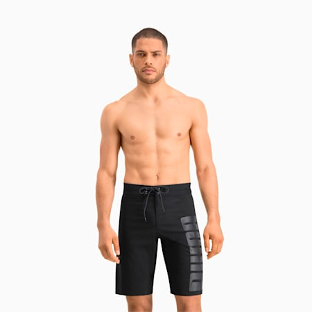 PUMA Swim Herren Lange Boardshorts, black, small