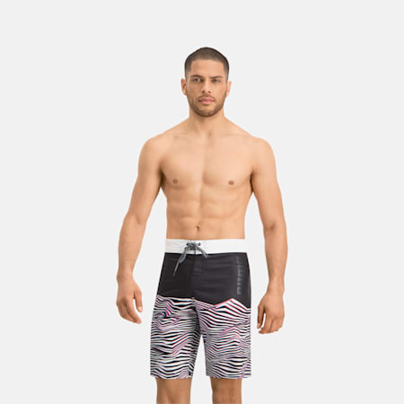 Short Board long PUMA Swim avec motif à vagues pour homme, black, small