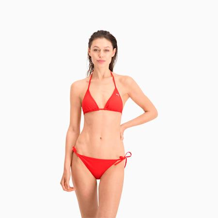PUMA Swim Damen Triangel Bikinitop, red, small