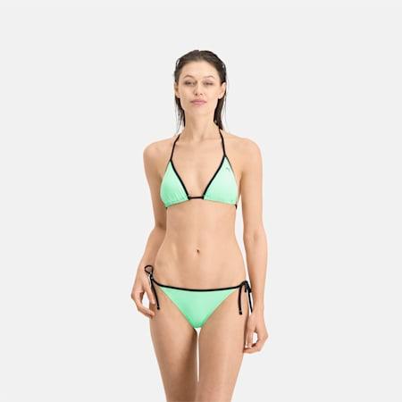 PUMA Swim Women's Triangle Bikini Top, mint, small