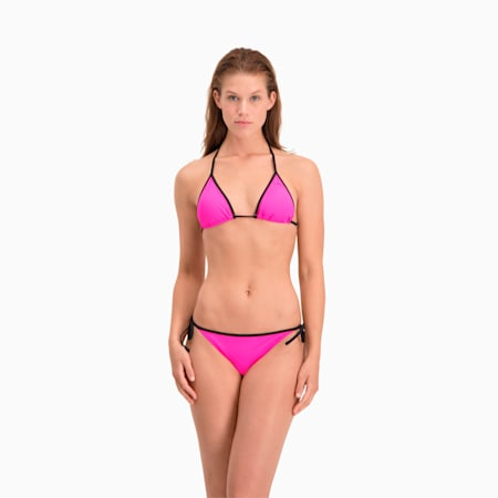 PUMA Swim Damen Triangel Bikinitop, glowing pink, small