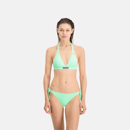 PUMA Swim Women's Halter Straps Bikini Top, mint, small