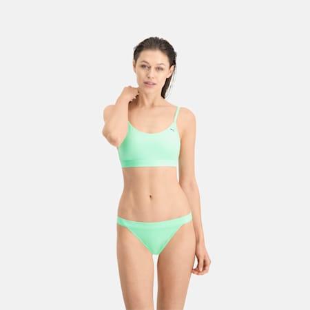 PUMA Swim Women's Sporty Bikini Top, mint, small