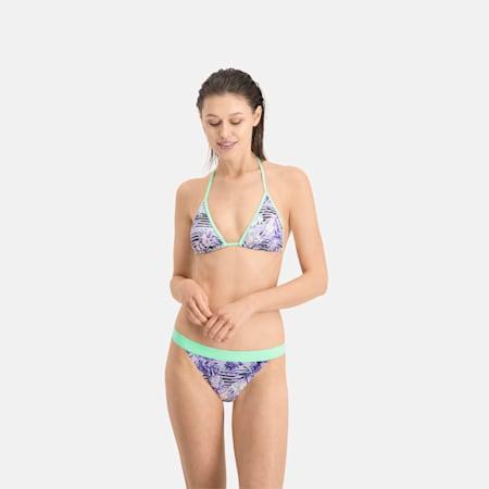 Wzorzysta dolna część bikini PUMA Swim, purple, small