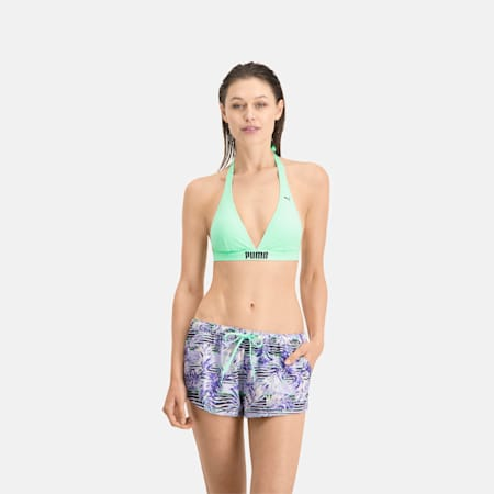 PUMA Swim Women's Patterned Board Short, purple, small