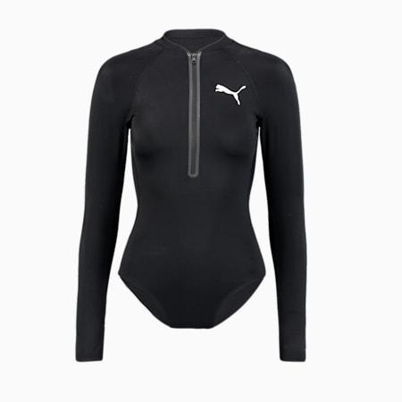 Swim Women's Long Sleeve Surf Suit, black, small-GBR