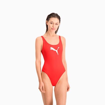 Damski strój kąpielowy PUMA Swim, red, small