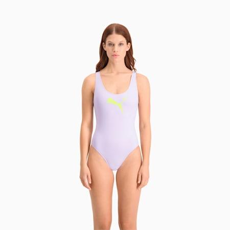 PUMA Swim Damen Badeanzug, pastel lavender, small