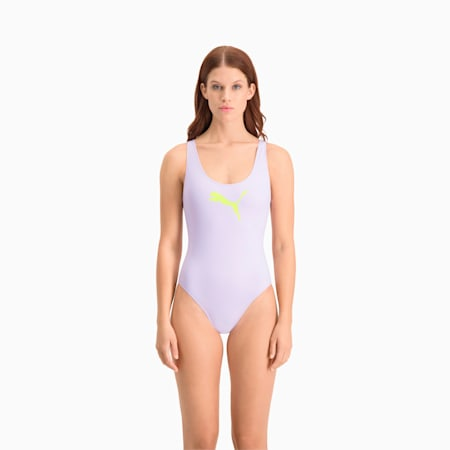 PUMA Swim badpak voor dames, pastel lavender, small