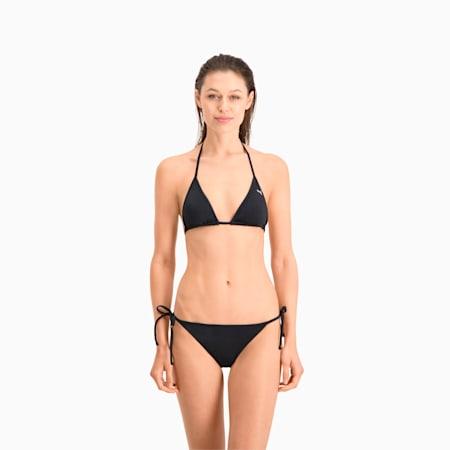 Slip bikini da donna con allacciatura laterale PUMA Swim, black, small