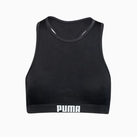 Top de bikini PUMA Swim Racerback pour femme, black, small