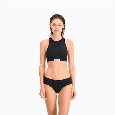 Top costume da bagno da donna con spalline incrociate sul retro PUMA Swim, black, small
