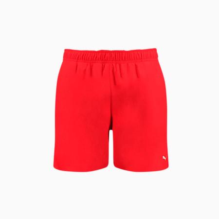 Męskie szorty pływackie o średniej długości PUMA Swim — z ukrytym ściągaczem, red, small