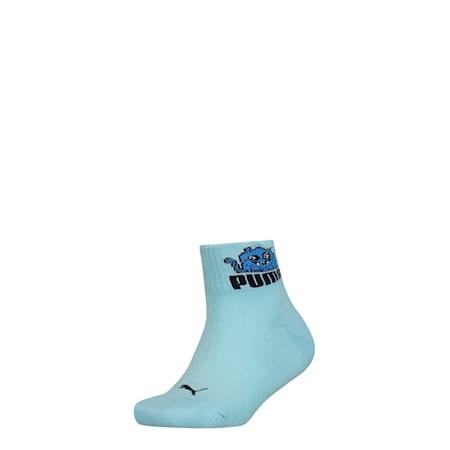 PUMA Kids' Sports Quarter Socks 1P, blue / blue, small-SEA