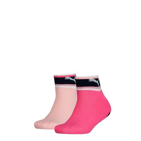 Lot de deux paires de chaussettes un quart Seasonal Stripe Youth, mixed colors, small