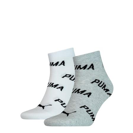 Quarter Socks 2 Pack, white / grey / black, small