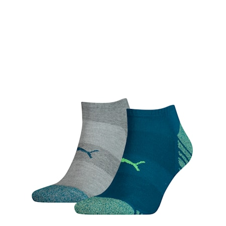 Statement Men's Trainer Socks 2 Pack, petrol blue, small