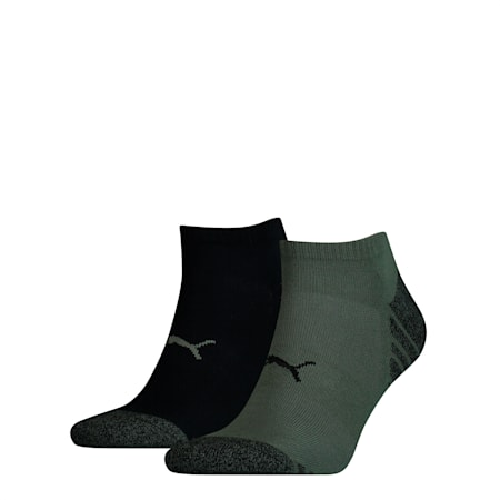 Statement Men's Trainer Socks 2 Pack, army green, small